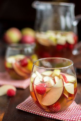 Autumn Sangria with Hard Cider - perfect fall entertaining beverage!