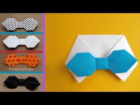 Cómo se hace una corbata de lazo, de moño o corbatín en origami