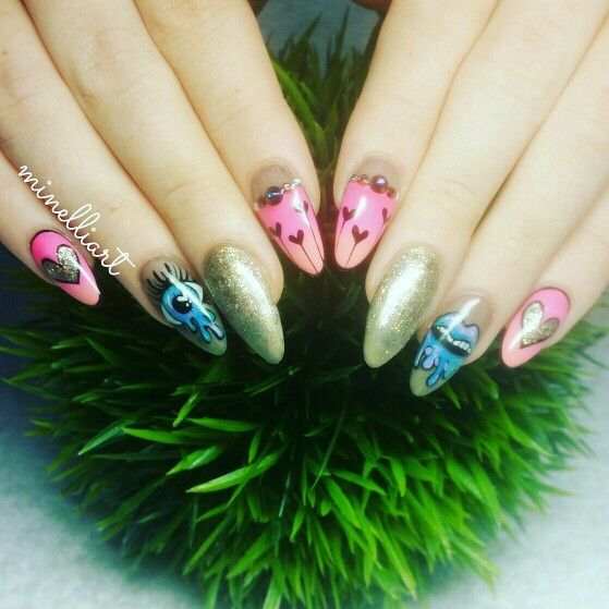 #celebrity #celebritynails #nailart #minelliart #gelit #maskscara #shatterdglassnails #mirrornails #gelpolish #biosculpturegel #handpainted #nailtrends #nailit #gettingyournailon #nailsalon #capetown #brackenfell #nailfashion #sharpienails #nailgoodness #nailporn #naillovers #nailartofinstagram #nailartappreciation #nailaddict #nailfetish #ombrenailart #nailartgallery #triblenailart #gems Fb page: minelliart