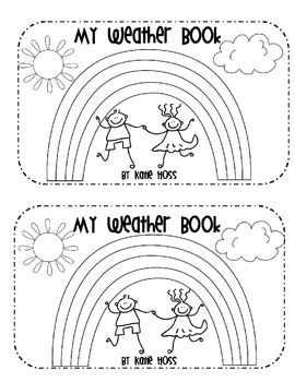 """Two weather words emergent readers. The first is """" My Weather Book"""", it uses the sight words, I and see. Weather words are: sun, cloud, rain, lightning, snow, tornado, umbrella, thermometer, rainbow, and wind. The second book is """"What is the Weather Today?"""" The sight words are It and is. Weather vocabulary is sunny, cloudy, rainy, snowy, and stormy. In this book the students draw themselves in the weather scene."""