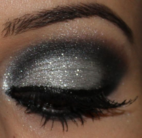 silver and black smokey eye...did I mention silver and black...