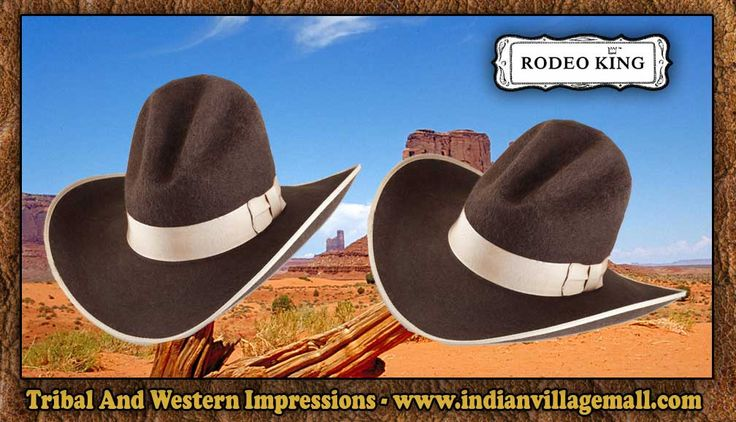 Old West Gus Grizzly Rodeo King Hat -Chocolate From Tribal And Western Impressions - www.indianvillagemall.com