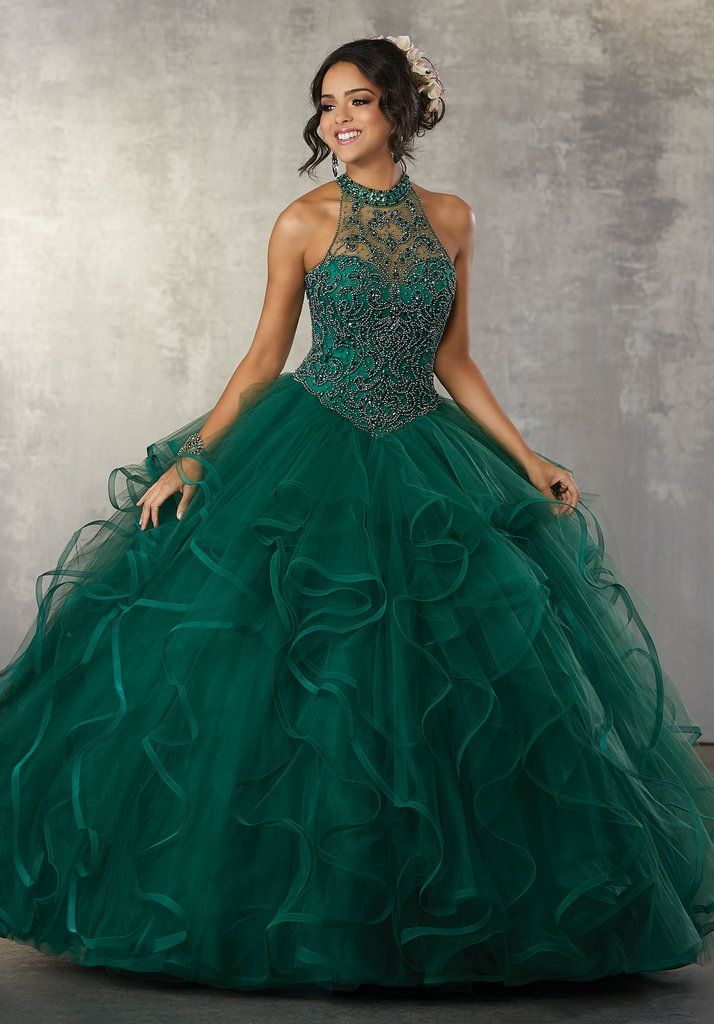 Ruffled Illusion Quinceanera Dress By Mori Lee Vizcaya 89163