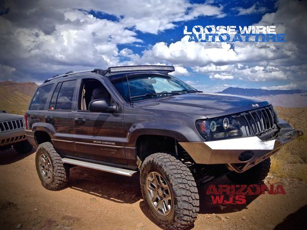 "WJ Brackets for 50"" Curved LED light bar! Includes a set of Billet Aluminum adapters (additional charges apply)."
