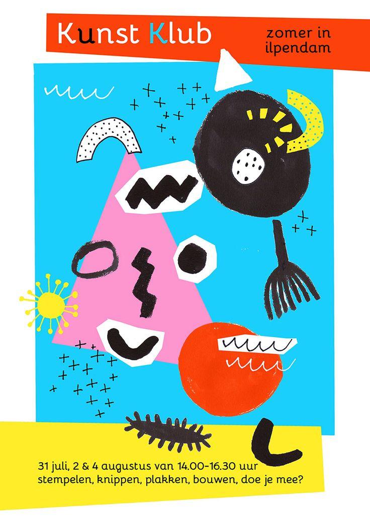 Poster voor Kunst Klub Ilpendam (voor kinderen van 4-12 jaar) - Kim Welling