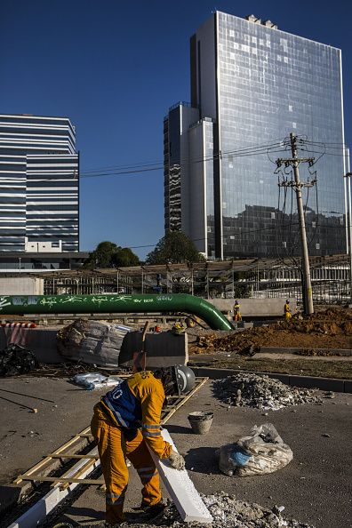 #RIO2016 Workers continue construction on Olympic Park in Rio de Janeiro Brazil on Wednesday June 15 2016 With less than two months before the start of the...