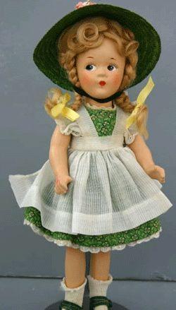 Gorgeous vintage McGuffey Anna doll from Madam Alexander.