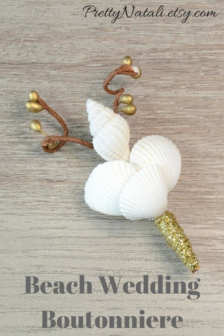 Beautiful seashell boutonniere made from real shells and artificial berries. Great addition to your wedding by the sea. White Gold Seashell Groom Groomsmen Wedding Boutonniere, Beach Wedding Accessory, Sea Shell Destination Wedding, Men Wedding Boutonniere #weddingboutonniere #shellboutonniere #beachwedding #coastalwedding #groom #groomsmen