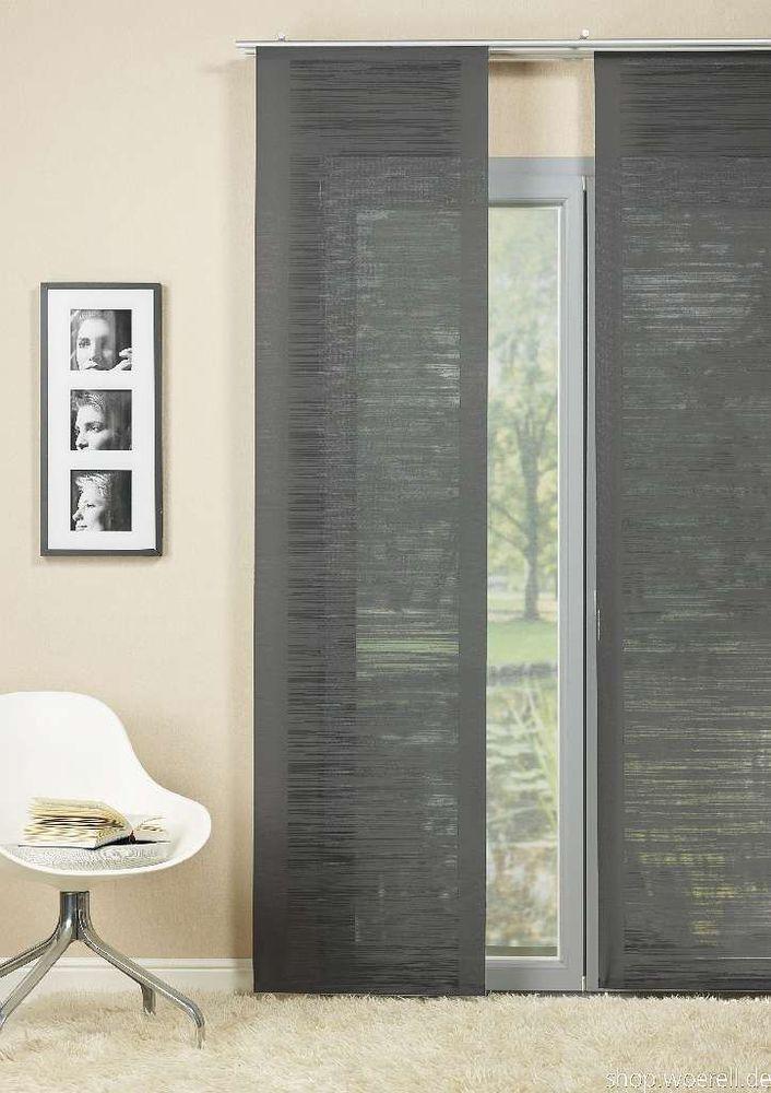 die besten 25+ schiebegardine ideen auf pinterest | gardinenstoffe ... - Vorhange Wohnzimmer Grau