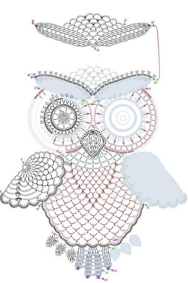 Crochet Owl Motif 1