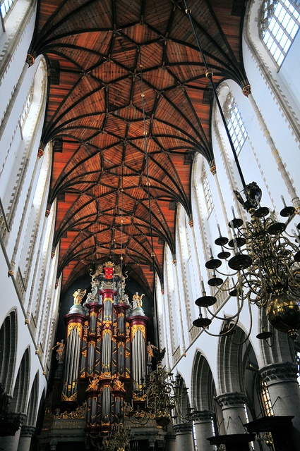 Haarlem, Netherlands. St. Bavo Church. What a beautiful church and ceiling.
