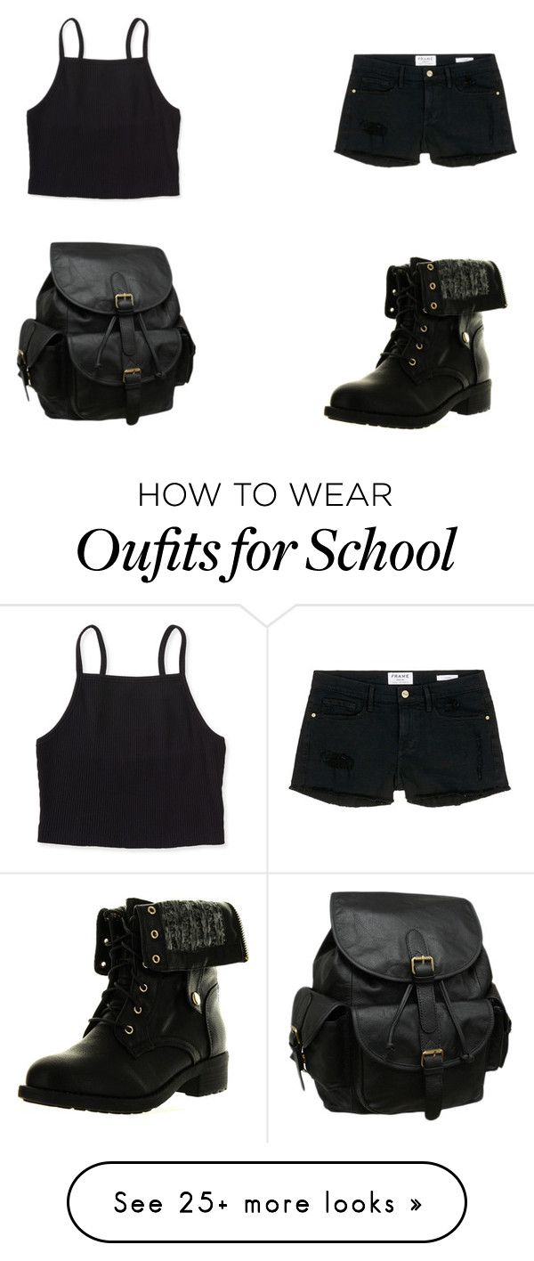 """""""after school"""" by tylerthequeen001 on Polyvore featuring Aéropostale, Refresh, Frame Denim and AmeriLeather"""