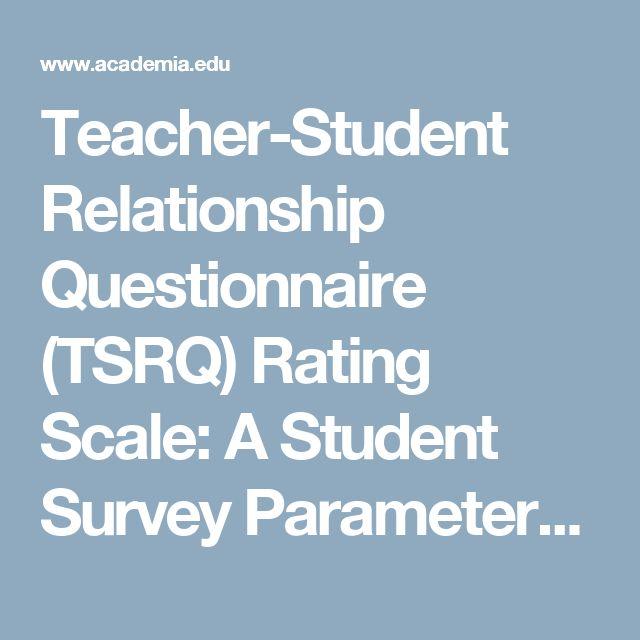 teacher student relationship questionnaire rq