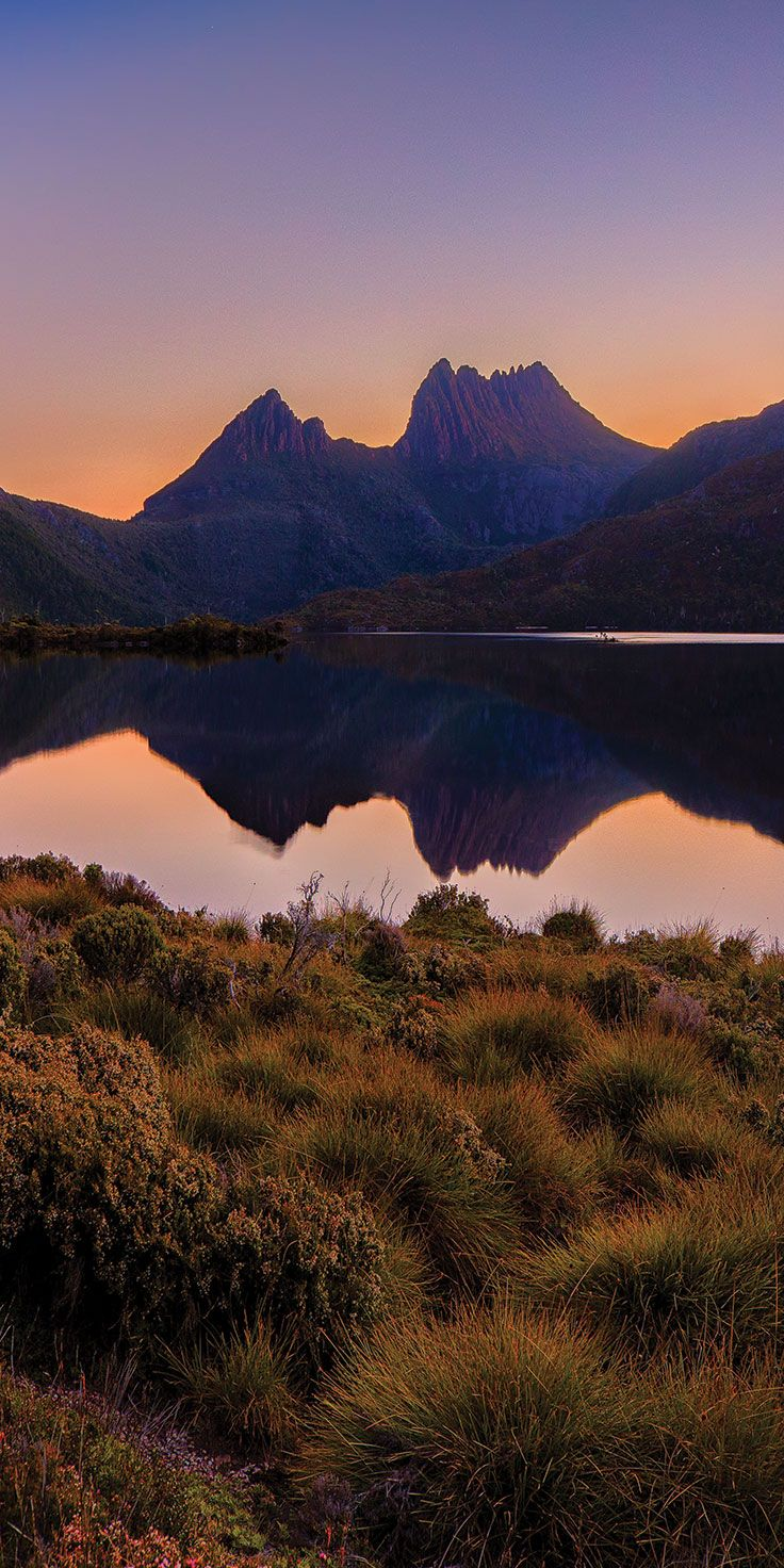 Cradle Mountain at dusk - by Paul Pichugins
