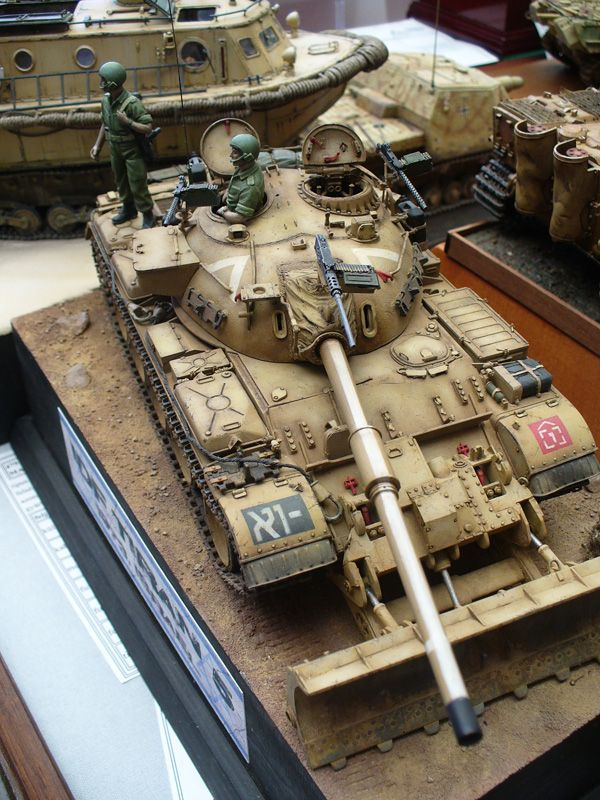 IDF T-55/Tiran-5 w/ Model 1957 Dozer Blade. by Mario Matijasic. Armament: Main/M87 105mm gun, coax/M2HB, 2x/pintle-M1916A6 MGs.