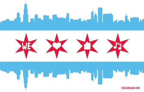 Chicago loves house music flag my kind of town chicago for Chicago house music