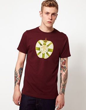 Pretty Green T-Shirt with Apple Core Print