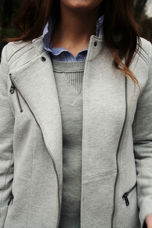 Double sweatshirts. Really into the double jackets. Why didn't I think of this one, dears?