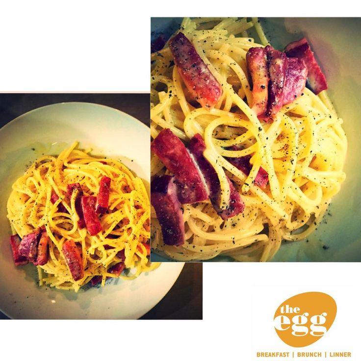 Kαρμπονάρα γεμάτο γεύσεις και αρώματα...#Holargos #new_dish #eggs #carbonara
