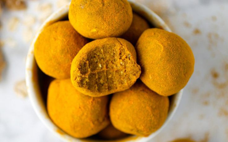 Raw Turmeric-Dusted Snack Balls [Vegan, Gluten-Free] - One Green PlanetOne Green Planet