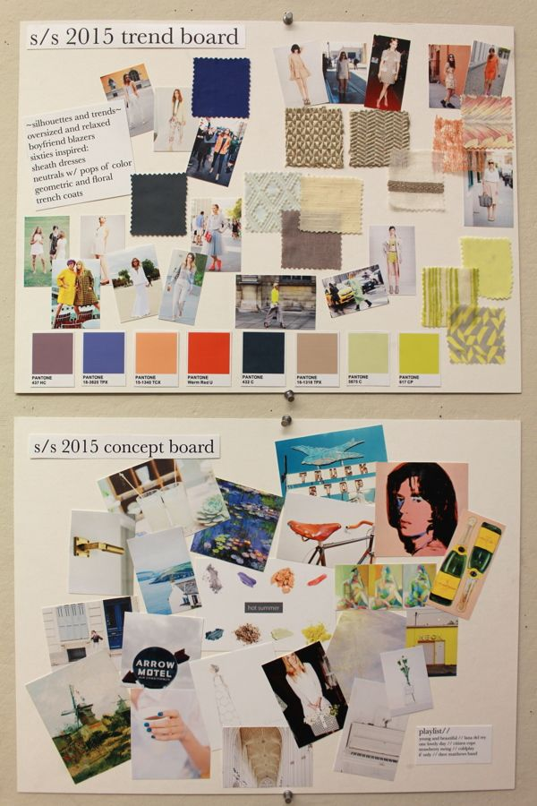 S/S 2015 Trend and Concept Boards on SCAD Portfolios