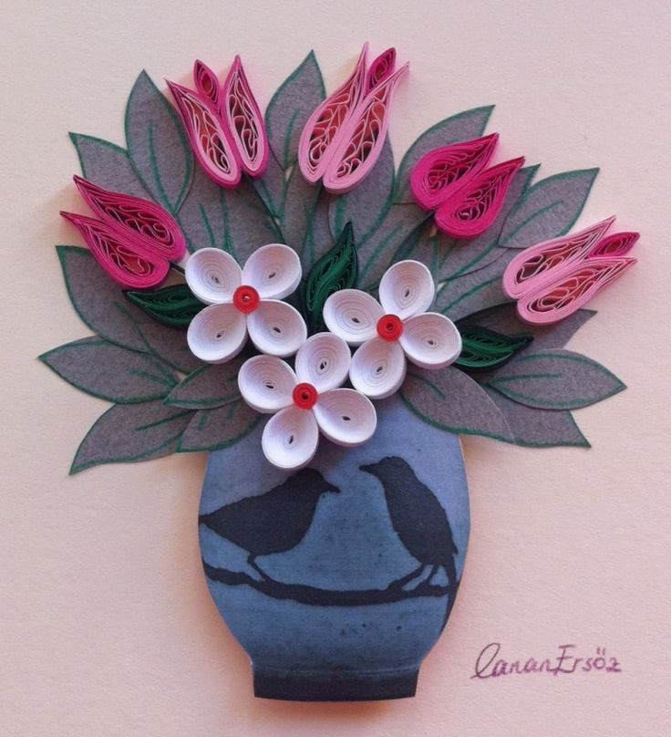 59 best quilling flowers tulips images on pinterest for Paper quilling work