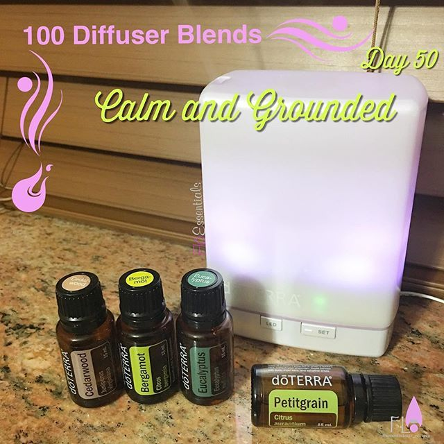 Day 50 of #100Diffuserblends - Calm and Grounded - 2 drops of Cedarwood, 3 drops of Bergamot, 3 drops of Eucalyptus and 4 drops of Petitgrain - smells woodsy and citrusy - so good, relaxing and grounding! Perfect relaxing blend for guys or someone that doesn't love the flower smell! Definitely grounding and relaxing! #dōTERRA #diffuserblends #petitgrain #lavenderformen #calmandgrounded #livingnaturally #naturalsolutions #healthylifestyle
