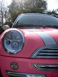 Pink Mini Cooper With White Detail. #PinkCars