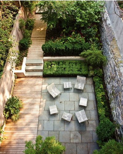 i really like the idea of segregated area's in a backyard, like a secret garden for children to play and discover.