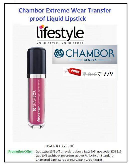 #Chambor #Extreme #Wear #Transfer #proof #Liquid #Lipstick  #Colour: Diva -403 #Price: ₹779.00