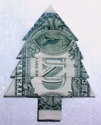 how to make an origami christmas tree with a dollar bill - Google Search