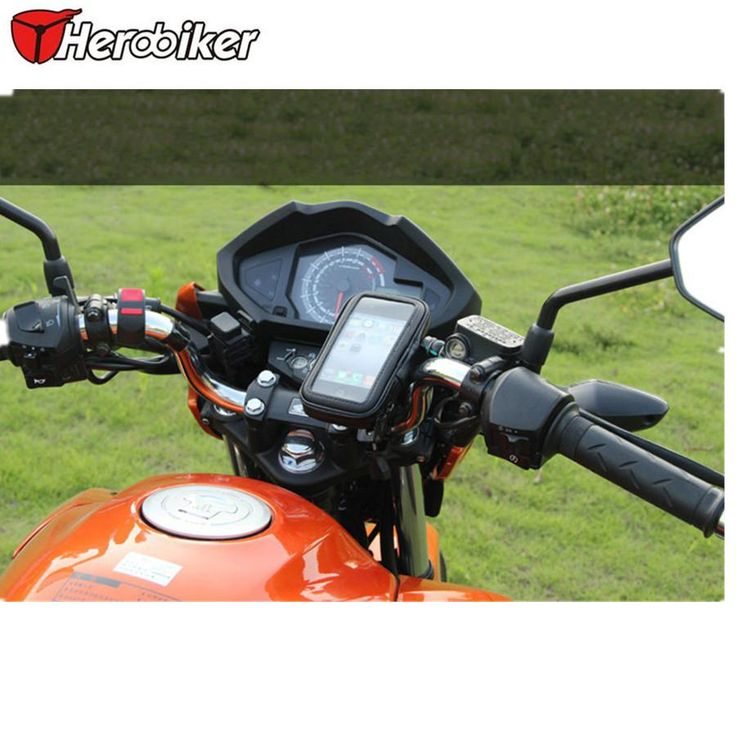 Motorcycle Phone Holder Mobile Phone Stand Support for iPhone 4 5S 6 Plus GPS Bike Holder with Waterproof Bag soporte movil moto