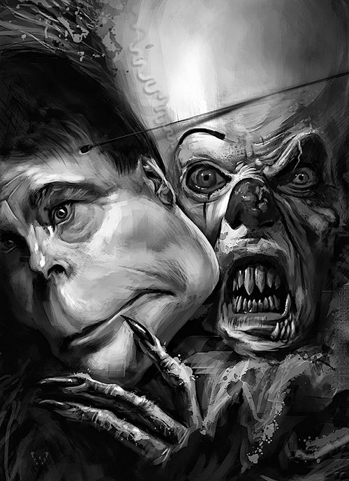 "Stephen King by Jeff Stahl ""Monsters are real, and ghosts are real too. They live inside us, and sometimes, they win."" - Stephen King"