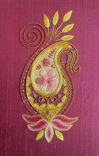 Love the colours used in this but then I always love paisley designs