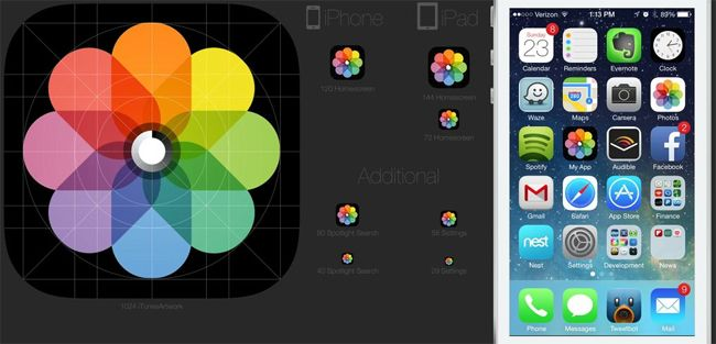 10 Free iOS7 Icon Template for Your Application Icons