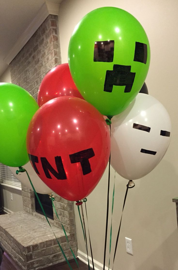 Minecraft balloons                                                                                                                                                      More