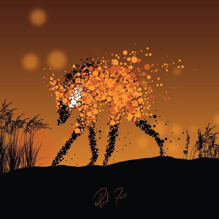 O Lobo Guará, inspirado nos animais do cerrado.