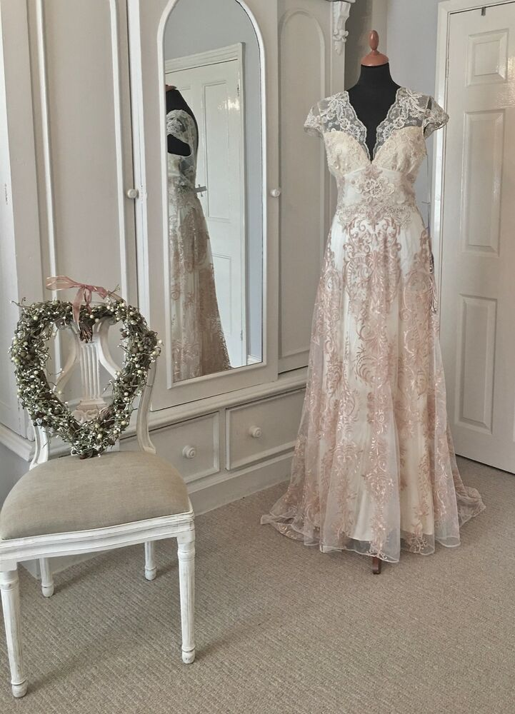 La Belle Couture Wedding Dress By Claire Pettibone Rose Blush