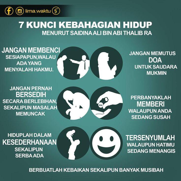 """""""7 kunci KEBAHAGIAN HIDUP Menurut Saidina Ali bin Abi Thalib RA . . . ✔tag rakan anda"""""""