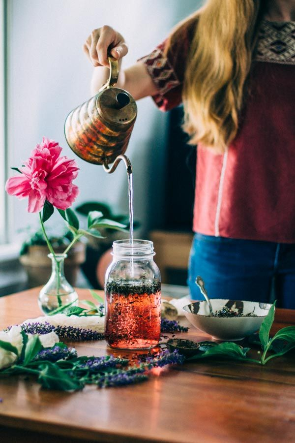 May Herbal Tea Steep | Damiana, Hibiscus, Nettle, Mugwort & Lavender | Ginger Tonic Botanicals