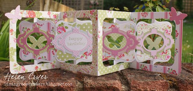 The Dining Room Drawers: Tanya Whelan Butterfly Accordion Album Birthday Card