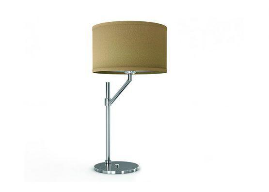 Lampada da comodino in ottone cromato e paralume in tessuto   Bedside lamp,  chromed brass with fabric lamp shade.    art.1400.02    #Luxury #Lamp #interiorDesign #Design #Light #Madeinitaly