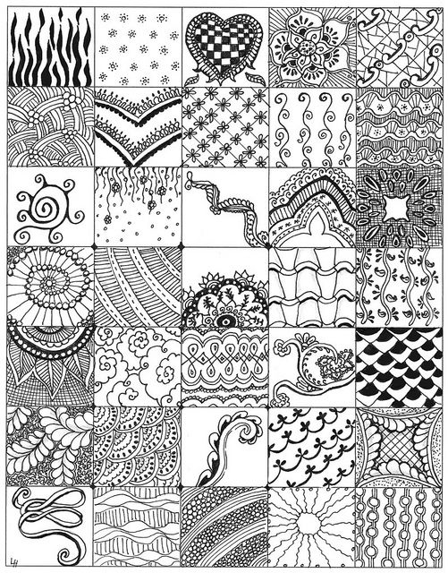 My Zentangle bits 01 by lacefairy1, via Flickr