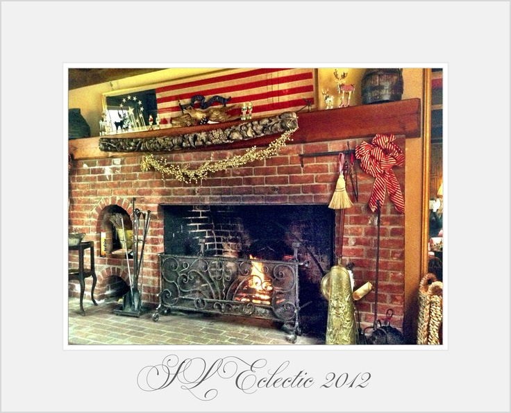 american colonial fireplace antique american flag meets