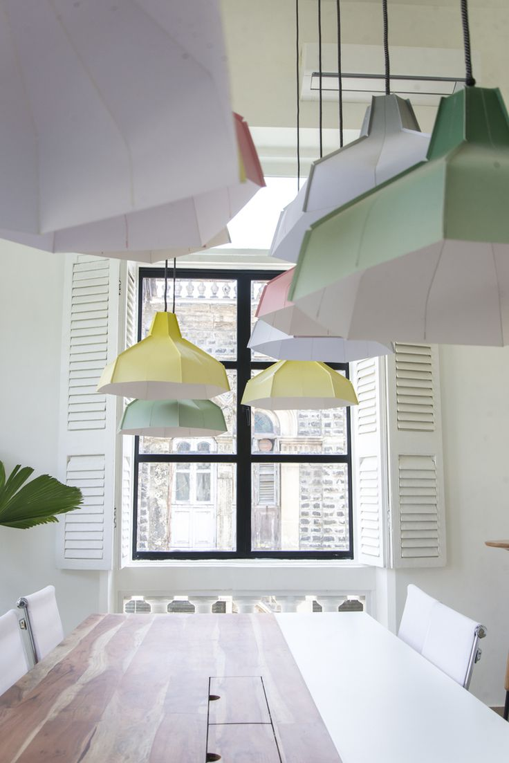 Pepe Heykoop lamps at Mumbai coworking space Ministry of New — LOVER