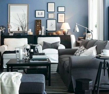 Grey Living Room With Blue Accents 50 best style - interiors - charcoal, silver-grey, taupe, olive