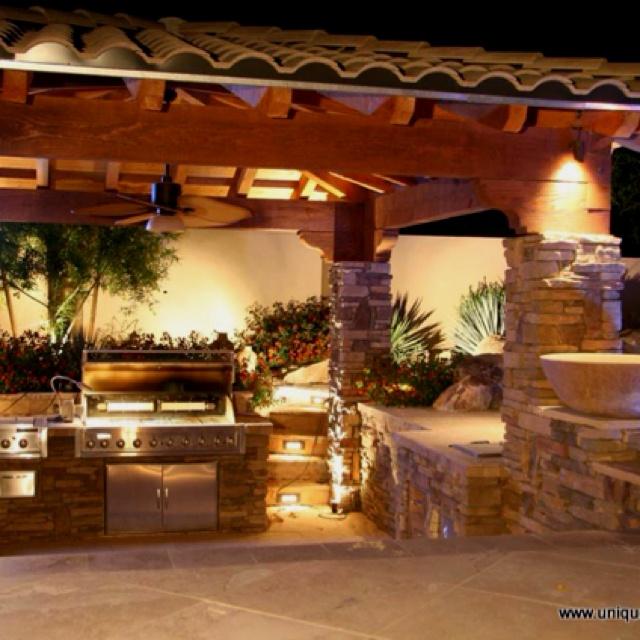 43 Best Grandmas Backyard Images On Pinterest  Backyard Ideas Alluring Outdoor Kitchen Bar Designs Design Inspiration