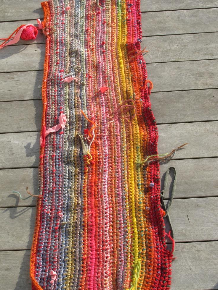 t-shirt yarn project #1 in progress