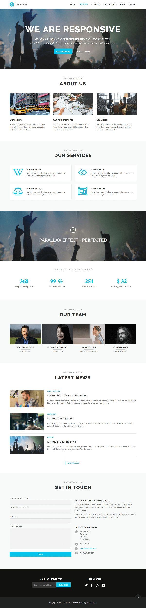 OnePress : One Page WordPress Theme - Free Download