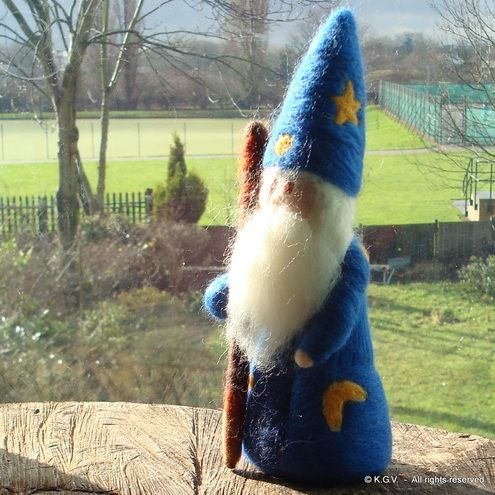 Merlin The Wizard Doll by Kana Dolls on Folksy